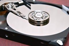 在被隔绝的背景的计算机坚硬盘坚硬驱动 库存图片