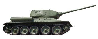 在被隔绝的减速火箭的坦克T-34, 库存照片