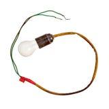 在被隔绝的插口的电灯泡 免版税库存照片