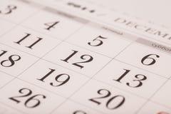 在被隔绝的日历的12月 免版税库存图片
