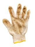 在被隔绝的白色的老手套 免版税库存照片