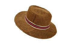 在被隔绝的白色背景的时尚帽子 免版税库存图片