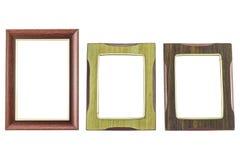 在被隔绝的白色背景的老/葡萄酒画框 免版税库存图片