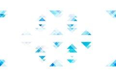 在被隔绝的白色背景的蓝色口气三角 库存图片