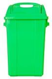 在被隔绝的白色背景的绿色垃圾 库存照片