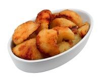 在被隔绝的碗的烘烤土豆 免版税库存图片
