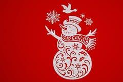 在被隔绝的红色的圣诞节装饰 水平 库存照片