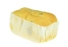 在被隔绝的纸包裹的面包 库存图片