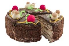 在被隔绝的背景切的开胃蛋糕 库存照片
