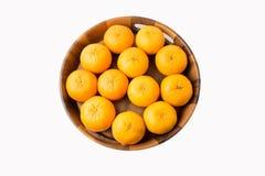 在被隔绝的背景的桔子果子 免版税库存图片