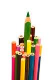 在被隔绝的背景的色的铅笔 图库摄影