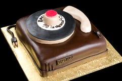 在被隔绝的黑背景的蛋糕 库存照片