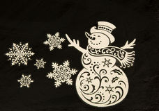 在被隔绝的blac的圣诞节装饰 水平 免版税库存照片