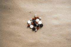 在被集中的纸的药片 免版税图库摄影