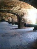 在被破坏的堡垒的大炮 库存照片