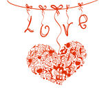 Love1 库存例证