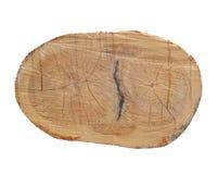 在裁减杉木的年轮 日志看见了 锯木厂 切开杉木 图库摄影