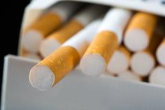 在装箱的香烟 免版税库存照片