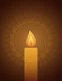 在装饰背景的蜡烛光 图库摄影
