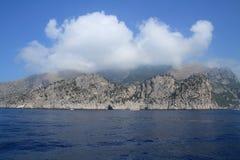 在褶皱藻属的洞,意大利 库存图片