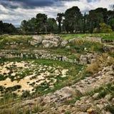 在西勒鸠斯的废墟 免版税库存图片