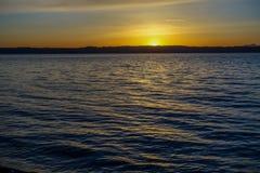 在西北部的平静的日落 免版税图库摄影