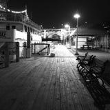 在西方舱内甲板的夜场面 库存照片