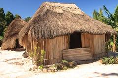 在西方soe timor传统的村庄附近 免版税库存图片