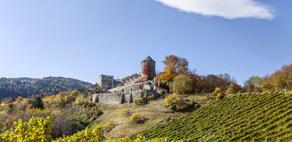 在西施蒂里亚的城堡Deutschlandsberg 库存照片