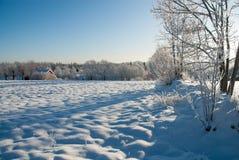 在西海岸的冬天风景在瑞典 库存图片