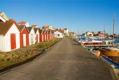 在西海岸的Fotö在瑞典 库存照片