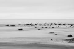 在西海岸足迹的海滩 图库摄影
