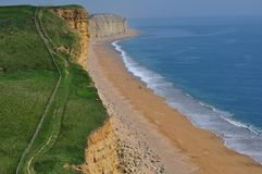 在西湾的峭壁 免版税库存照片