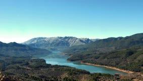 在西班牙使Tranco水库陷入沼泽 库存照片