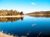 在西班牙使Tranco水库陷入沼泽 免版税库存照片