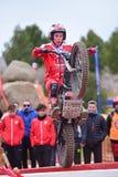 在西班牙全国试验冠军的行动2018年 免版税库存照片