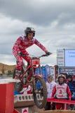 在西班牙全国试验冠军的行动2018年 免版税库存图片