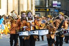 在西班牙带的狂欢节 库存照片