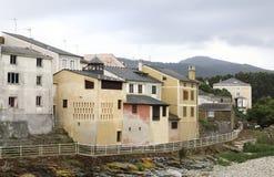 在西班牙的北部的典型的建筑学 图库摄影