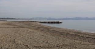 在西班牙的海岸的海滩 免版税库存照片
