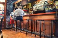 在西班牙酒吧里面,马德里 免版税图库摄影