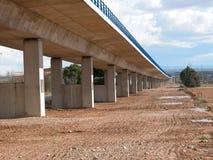 在西班牙高速火车下, AVE铁路的细节  图库摄影