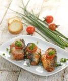 在西红柿酱的沙丁鱼 免版税图库摄影