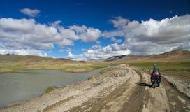 在西藏路上 库存照片