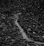 在西藏附近的色达佛教镇 库存图片