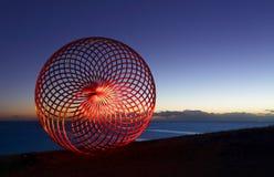 在西西富斯的Lightpainting在黎明 免版税库存照片