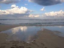 在西西里人的海岸的海滩的美好的风景 免版税库存照片