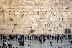 在西部墙壁下的祷告, 图库摄影