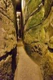 在西部墙壁下的隧道,耶路撒冷 库存照片