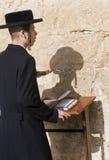 在西部墙壁的逾越节 免版税库存照片